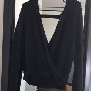 Sweaters - Black low cut sweater